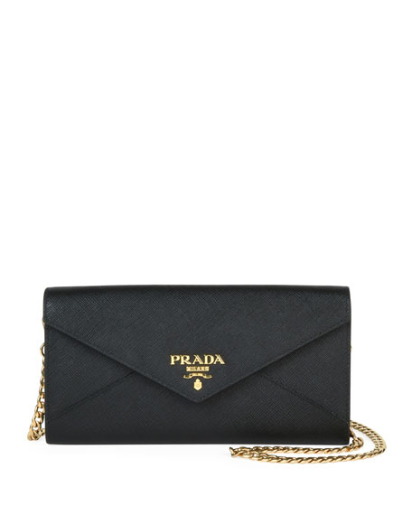 Saffiano Envelope Mini Bag by Prada