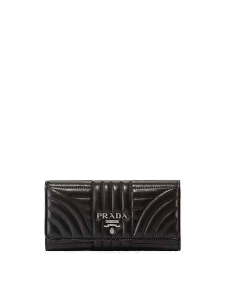 Prada Diagramme Continental Wallet