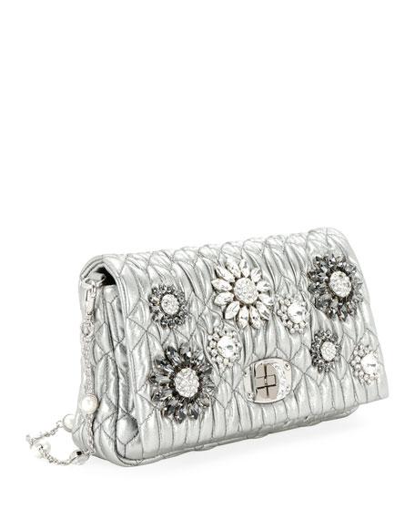 Matelasse Flowers Shoulder Bag