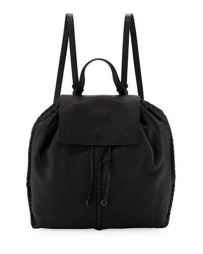 Cervo Leather Flap Backpack