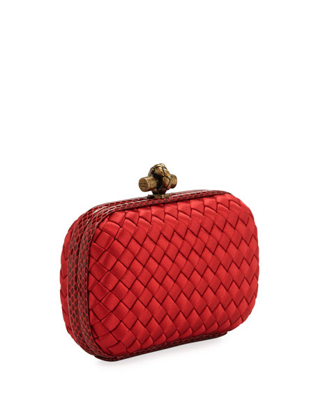 Small Knot Satin Clutch