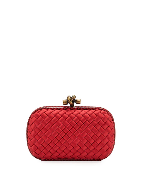 Bottega Veneta Small Intrecciato Impero Satin Knot Minaudiere