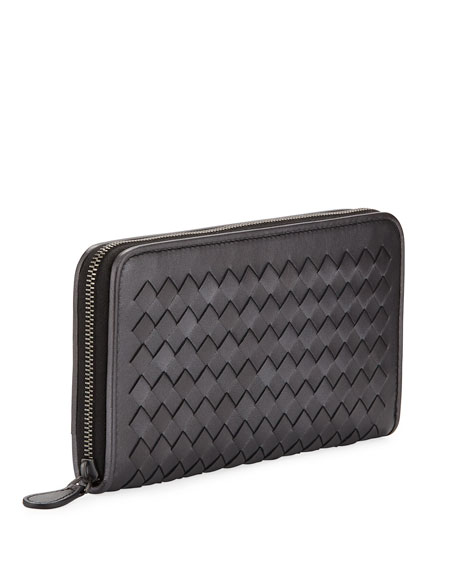 Intrecciato Zip Around Wallet
