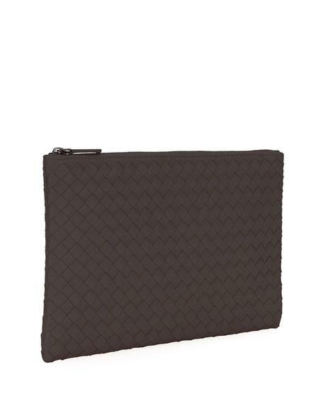 Medium Intrecciato Zip Pouch Bag