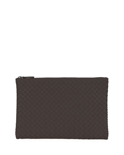 Medium Intrecciato Zip Pouch Bag