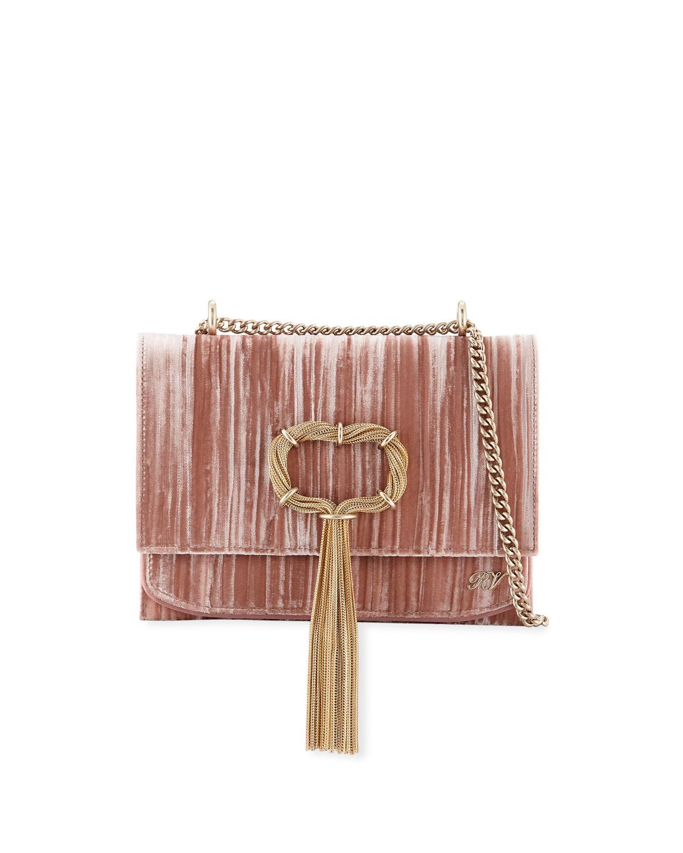 Roger Vivier Club Chain Velvet Tassel Evening Clutch Bag  ba3e2608b7cdf