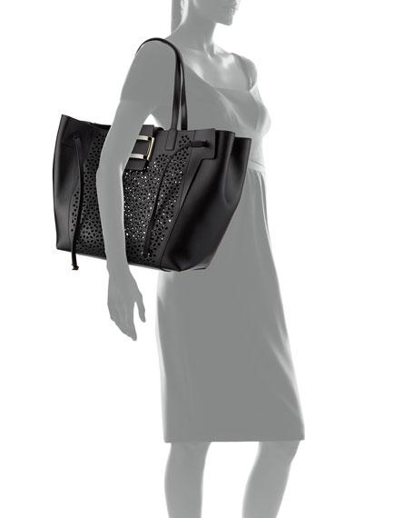 Viv Large Perforated Tote Bag