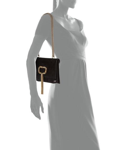 Chain Buckle Evening Crossbody Bag