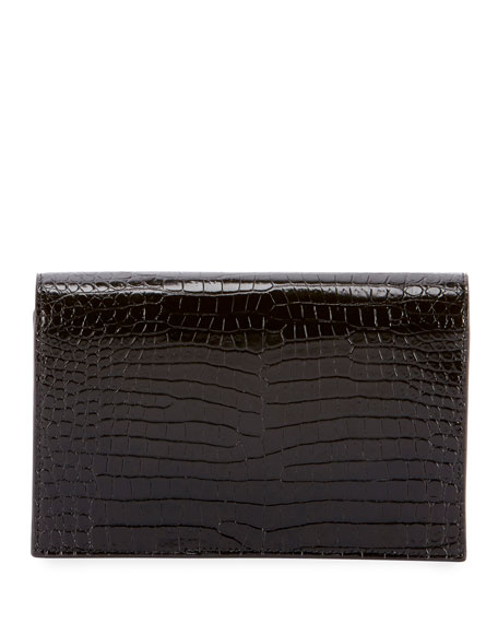 Kate Monogram Tassel Croco Wallet on Chain Bag - Golden Hardware