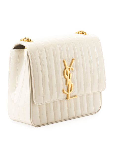 Monogram Vicky Large Quilted Patent Leather Chain Crossbody Bag