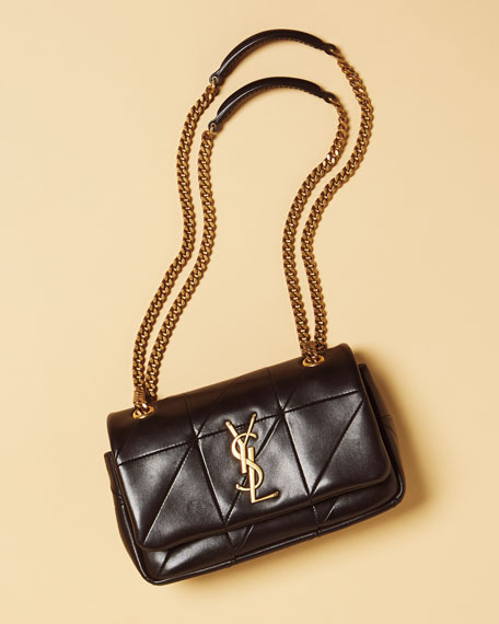 Jamie Monogram YSL Giant Full-Flap Chain Shoulder Bag
