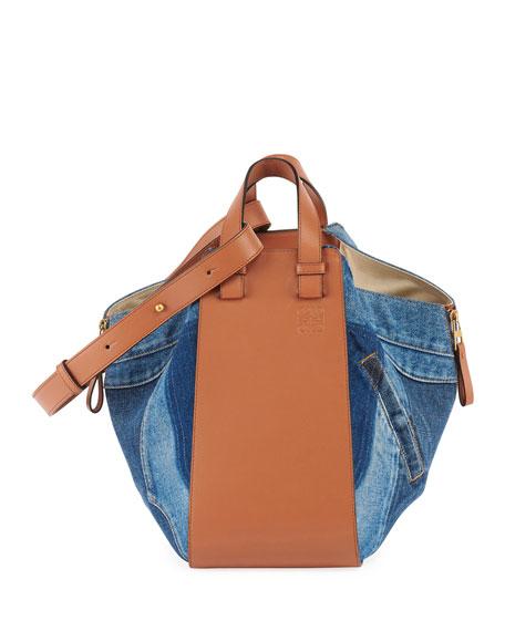 Loewe Hammock Denim Medium Satchel Bag