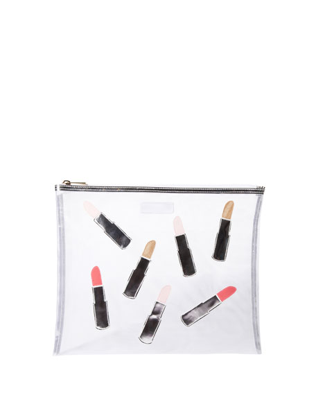 Lydia Scattered Lipsticks Mesh Bag