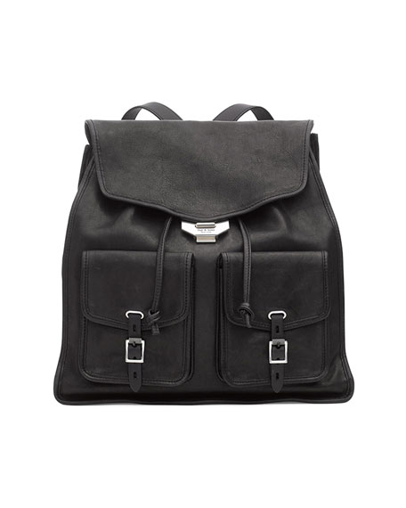 Field Leather Flap Backpack