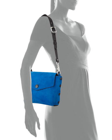 Atlas Suede Chain-Strap Shoulder Bag