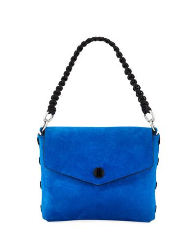Atlas Suede Chain-Strap Shoulder Bag