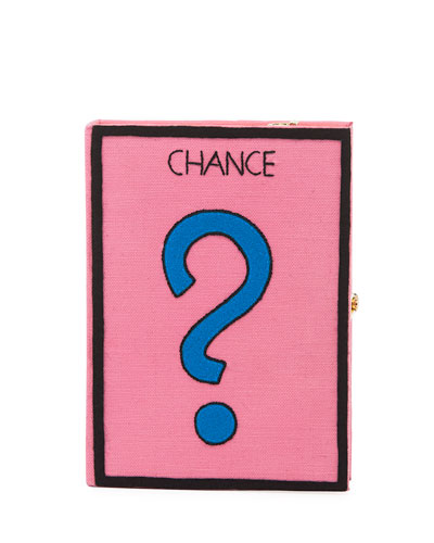Chance Monopoly Card Box Clutch Bag