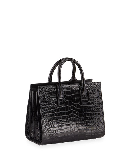 Nano Sac de Jour Croco-Effect Satchel Bag
