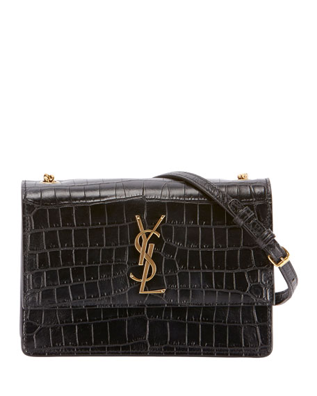 Monogram Sunset Medium Croco-Effect Shoulder Bag