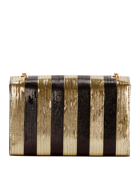 Kate Monogram YSL Small Metallic-Striped Crossbody Bag