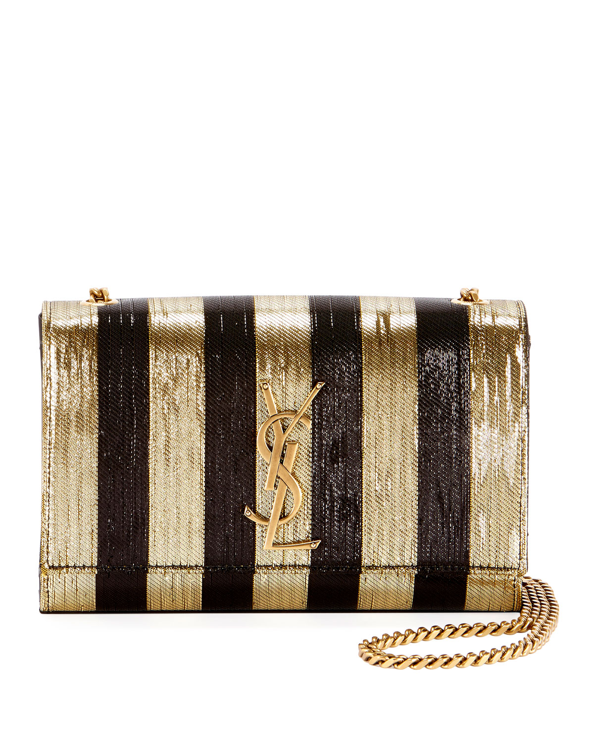 Saint Laurent Kate Monogram Ysl Small Metallic Striped