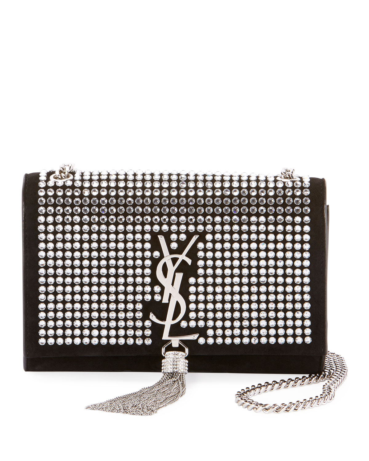 Kate Monogram YSL Small Tassel Chain Crossbody Bag with Crystals - Miroir  Hardware d58e4d8fab