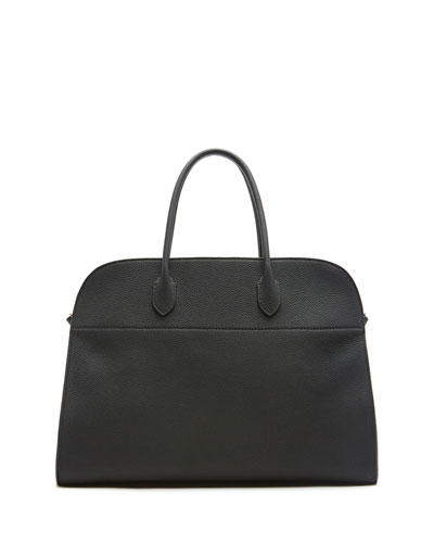 THE ROW Margaux 17 Calfskin Top Handle Bag