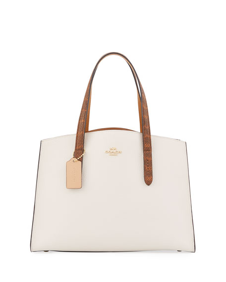 Coach 1941 Charlie Colorblock Leather Tote Carryall Bag