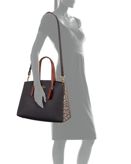 Charlie Colorblock Exotic Carryall Tote Bag