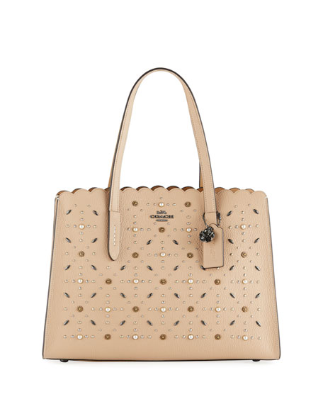 Coach 1941 Charlie Prairie Rivets Carryall Tote Bag