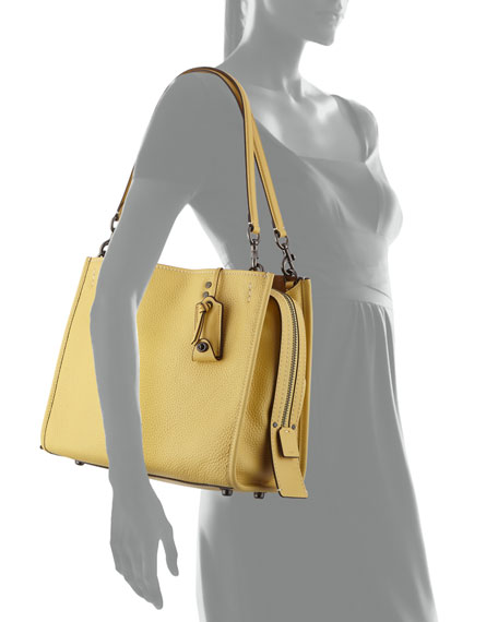 Rogue Glove-Tan Leather Tote Bag with Exotic Handles