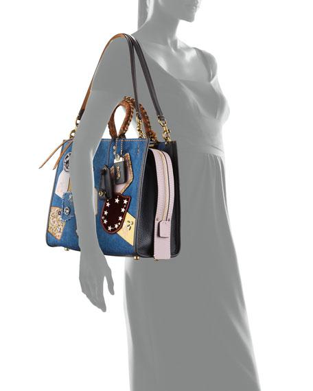 Rogue Exotic Denim Patchwork Bag