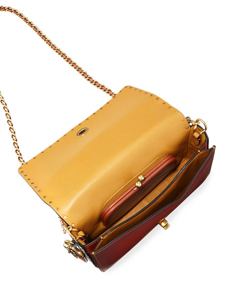 Dinky Exotic Detail Border Rivets Crossbody Bag
