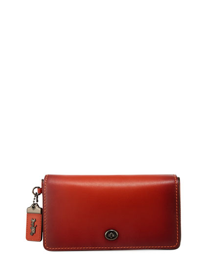Dinky Glove-Tanned Crossbody Bag, Chili