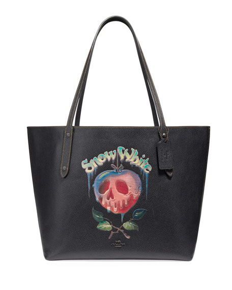 DISNEY X COACH Snow White Poisoned Apple Market Tote Bag