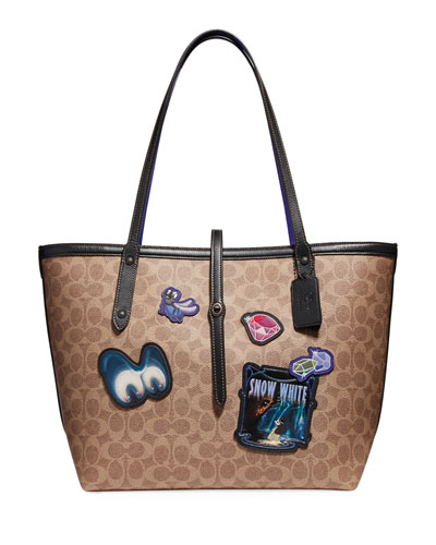 Disney Dark Fairy Tale Coated Canvas Patches Market Tote Bag