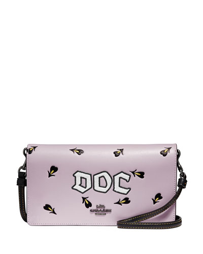 Disney Dark Fairy Tale Doc Fold-Over Crossbody Clutch Bag