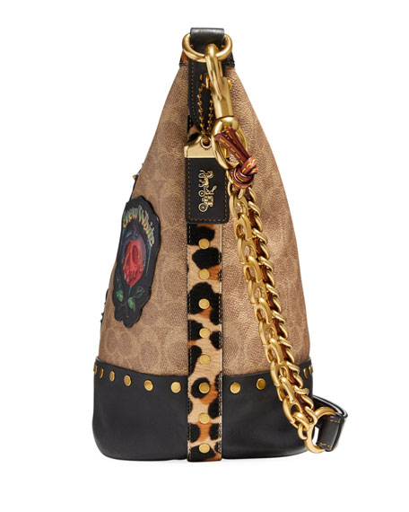 DISNEY X COACH Snow White Signature Patchwork Duffel Bag