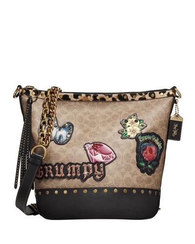 DISNEY X COACH Snow White Signature Patchwork Duffel Bag