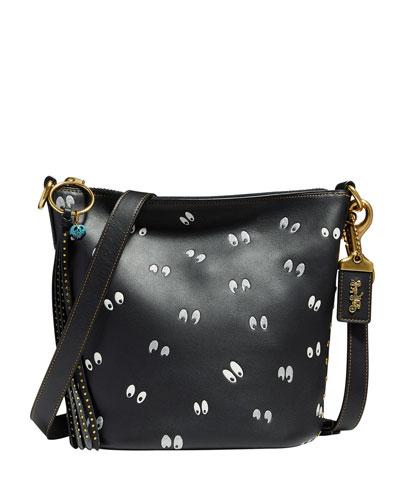 DISNEY X COACH Spooky Eyes Bucket Bag