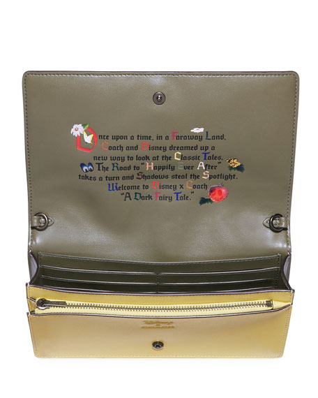 DISNEY X COACH Sneezy Fold-Over Crossbody Clutch Bag