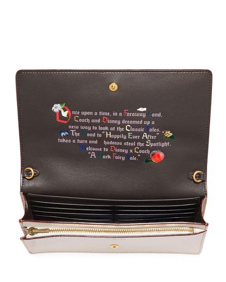 DISNEY X COACH Happy Fold-Over Crossbody Clutch Bag