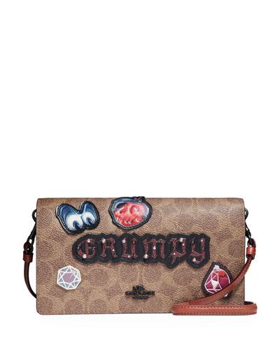 DISNEY X COACH Grumpy Fold-Over Crossbody Clutch Bag
