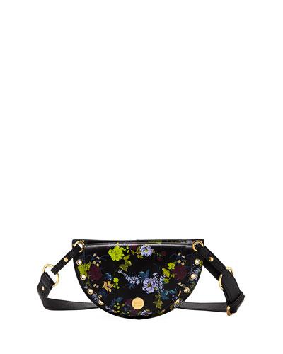 Kriss Floral-Print Leather Belt Bag/Fanny Pack