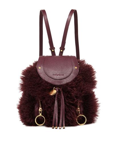Olga Shearling Leather Backpack