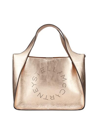 Metallic Logo Crossbody Bag