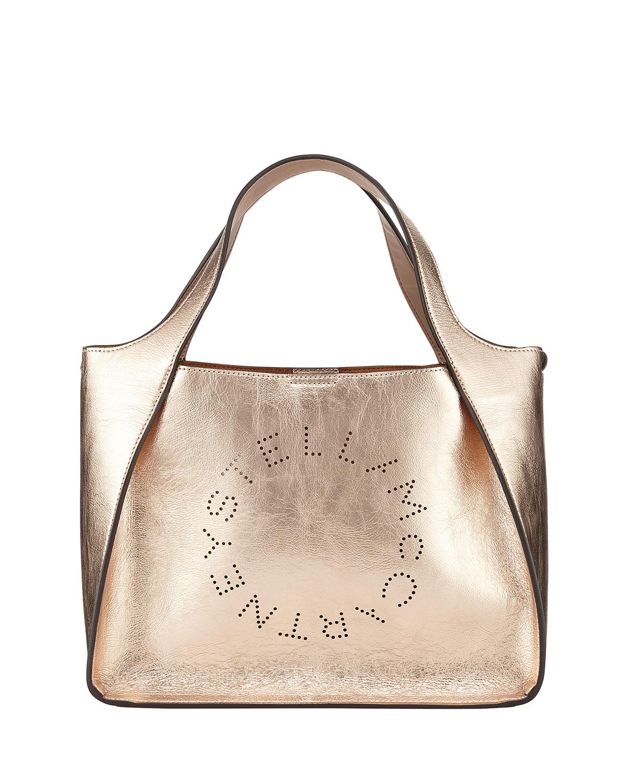 f5a77ee309f2 Stella McCartney Metallic Logo Crossbody Bag
