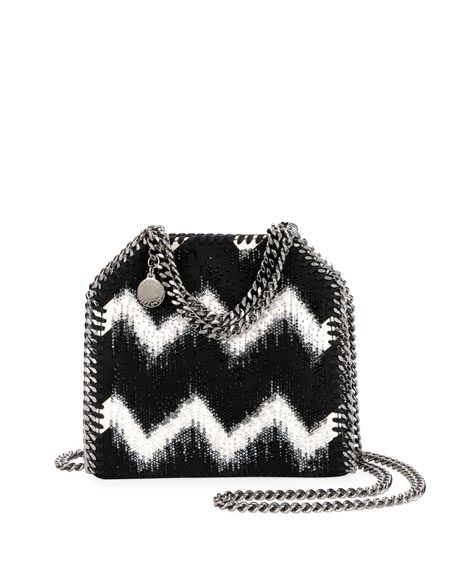 Tiny Bella Chevron Crystal Falabella Tote Bag