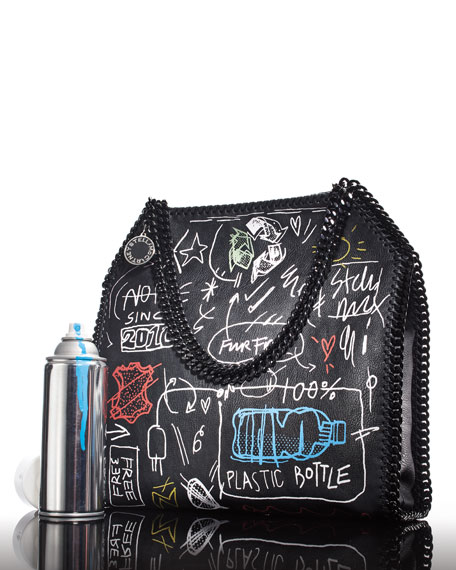 Small Graffiti Falabella Tote Bag