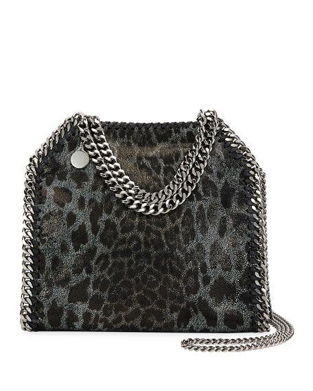 Stella McCartney Mini Leopard Falabella Tote Bag